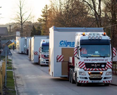 Transport modułów budowlanych Climatic