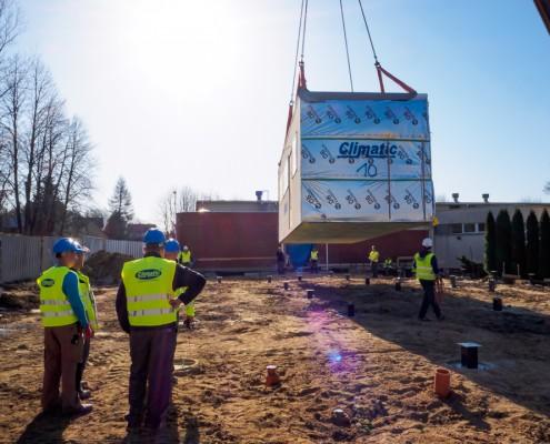 Plac budowy przedszkole w Mielniku Climatic