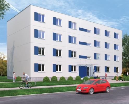Wizualizacja budynku wielorodzinnego Climatic