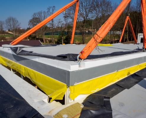 Łączenie modułu z budynkiem - budownictwo modułowe Climatic