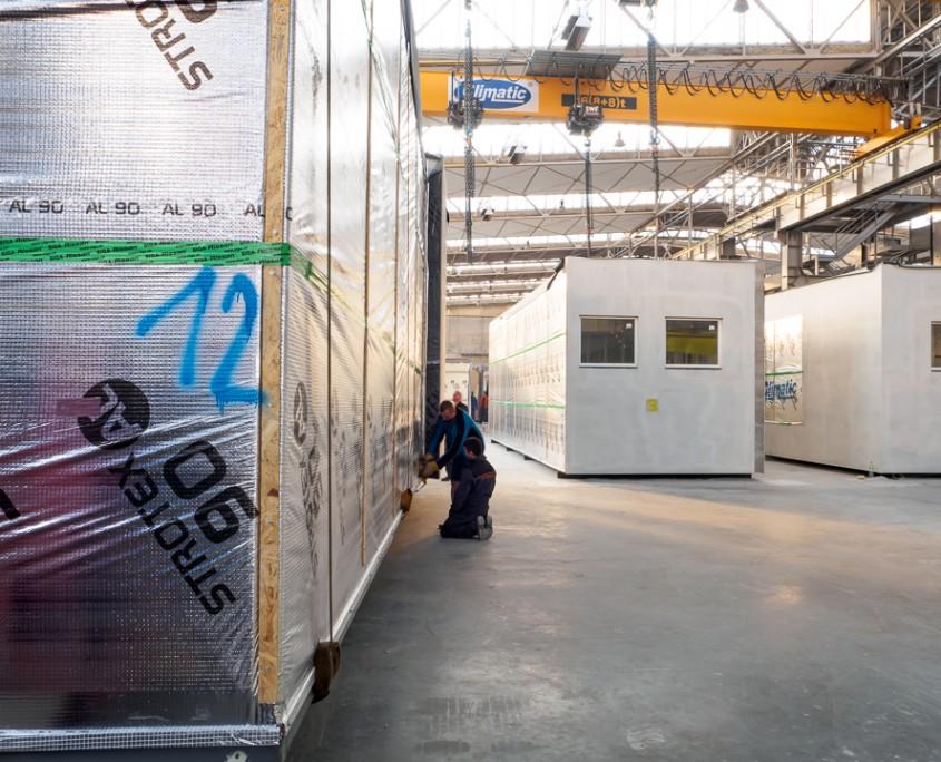 Moduły budowlane w fabryce Climatic budownictwo modułowe