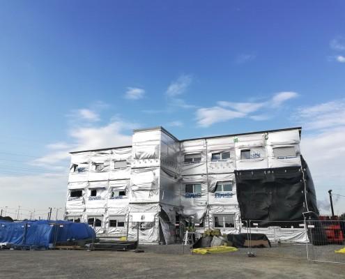 Budowa budynku modułowego na terenei kopalni w Salzgitter