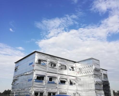 Budynek biurowy modułowy w Salzgitter wykonany przez Climatic