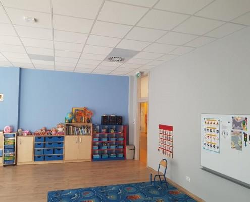 Pomieszczenie z wyposażeniem oddziału przedszkolnego