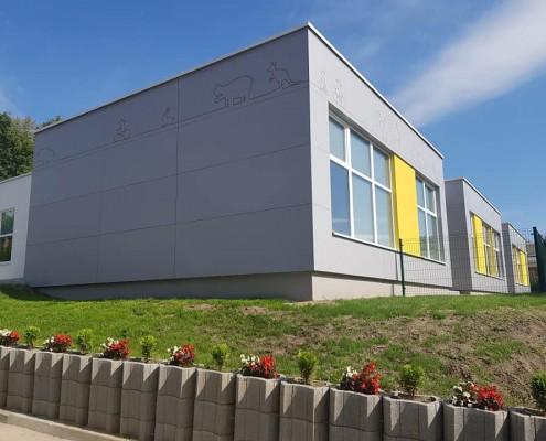 Elewacja modułowego przedszkola w gminie Mielnik