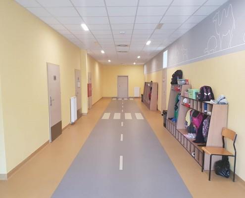 Szatnia przedszkola w gminie Mielnik