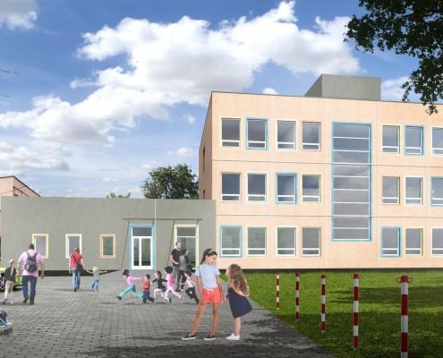 Projekt rozbudowy budynku Szkoły Podstawowej Nr 128 w technologii modułowej
