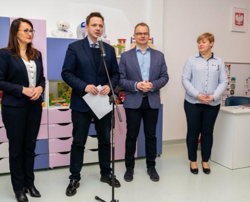 Uroczyste otwarcie nowego przedszkola modułowego na Bielanach