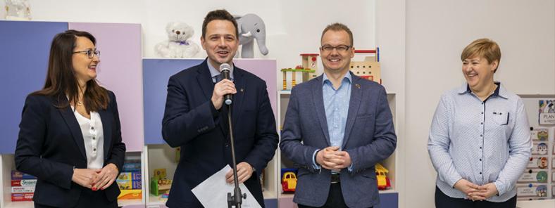 Uroczyste otwarcie modułowego Przedszkola Nr 328 z udziałem prezydenta m.st. Warszawy