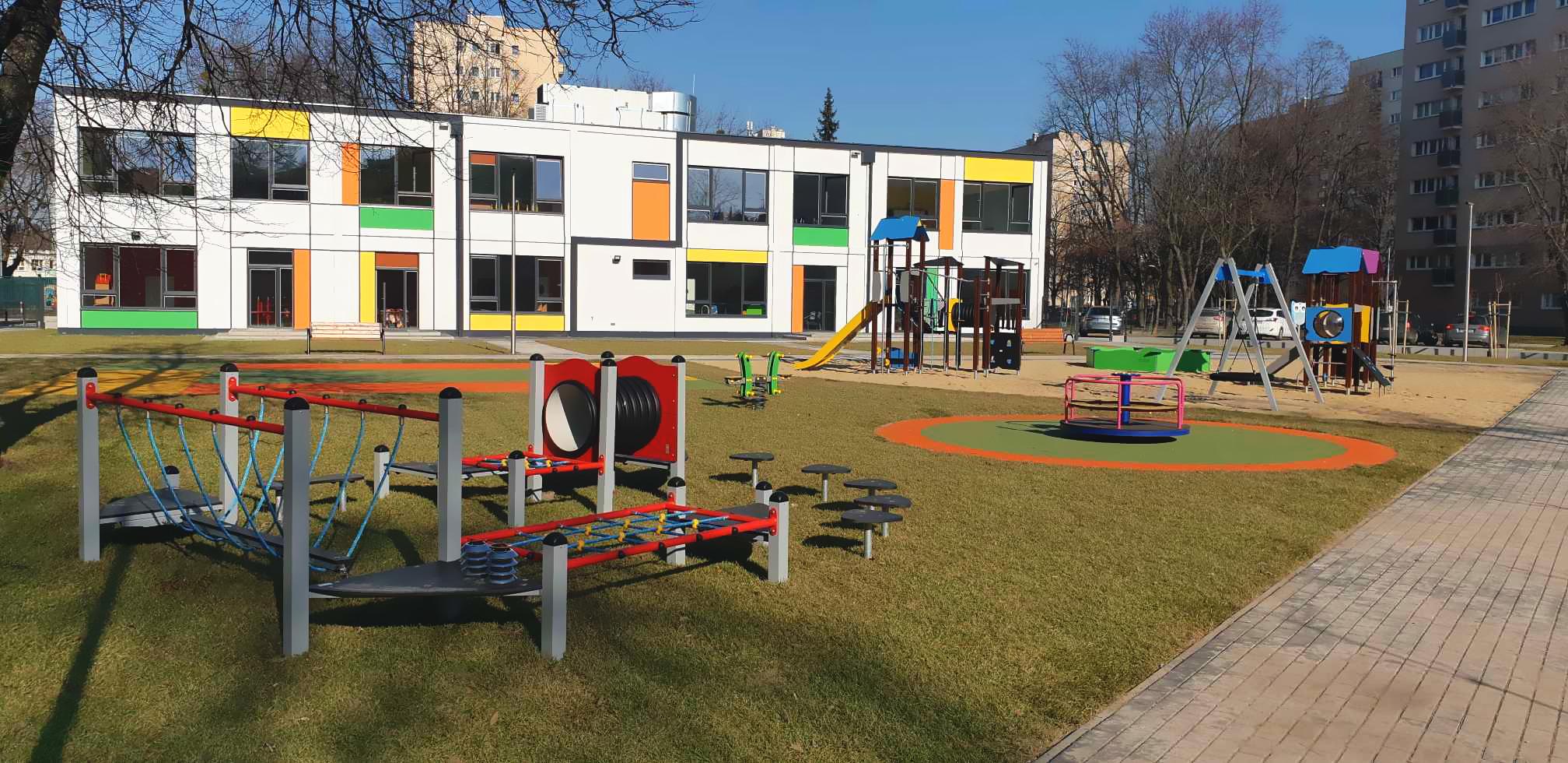 Przedszkole modułowe przy ul. Przy Agorze na warszawskich Bielanach oddane do użytku